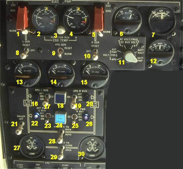 Md80 Electrical Panel